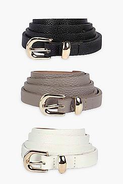 Skinny Belts 3 Pack