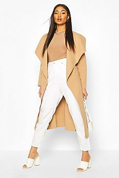 Belted Shawl Collar Coat