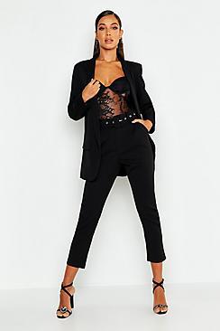 Se  Self Belt Tailored Trouser ved Boohoo.com