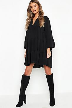 Woven Tiered Smock Dress