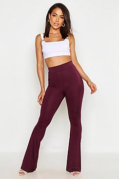 High Waist Basic Skinny Flares
