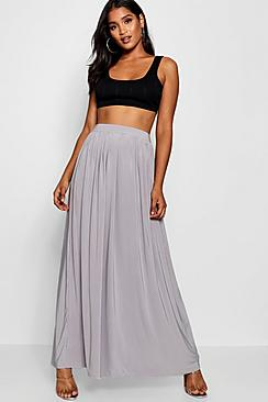 Basic Slinky Floor Sweeping Maxi Skirt