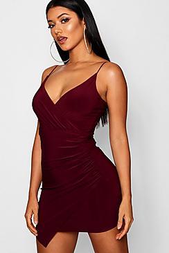Se  Wrap Detail Bodycon Dress ved Boohoo.com