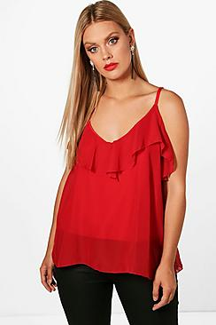 Se  Plus  Ruffle Detail Swing Cami ved Boohoo.com