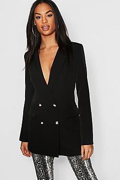 Tall Button Detail Tailored Blazer