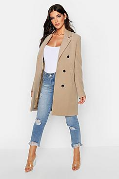 Se  Double Breasted Coat ved Boohoo.com