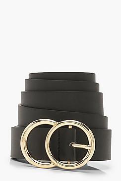 Plus Gold O Ring Boyfriend Belt