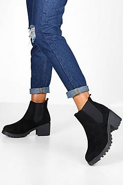 Cleated Chunky Chelsea Boots