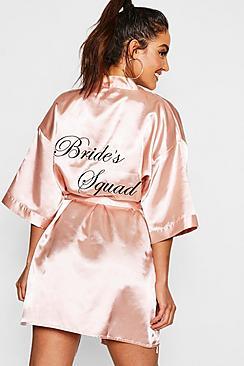 Brides Squad Satin Robe