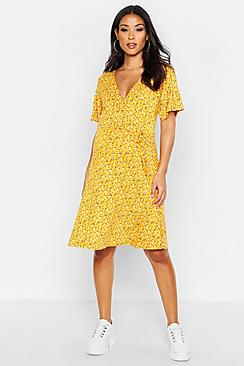 Maternity Ditsy Floral Wrap Dress