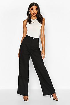 Se  Tall High Rise Wide Leg Jeans ved Boohoo.com
