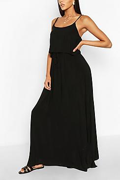 Strappy Double Layer Maxi Dress
