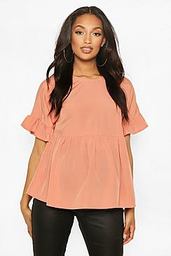 Maternity Cross Back Woven Smock Top
