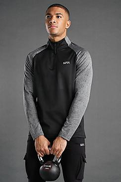 Active Funnel Neck Track Gym Top