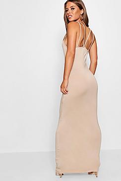 Petite Strappy Basic Maxi Dress