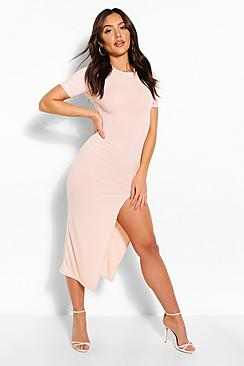 Jumbo Rib Split Side Mini Dress