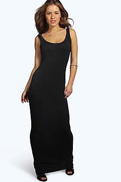 Petite Sandy Scoop Neck Maxi Dress