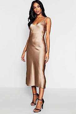 Tall Satin Slip Dress