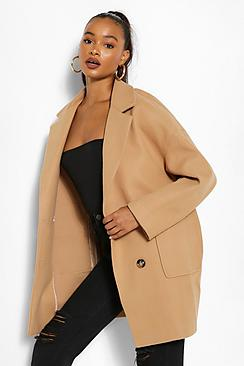 Tall Wool Oversized Pocket Coat