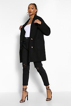 Tall Wool Oversized Pocket Coat