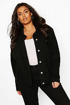 Plus Oversized Denim Jacket