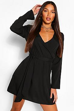 Tall Double Wrap Skater Dress