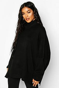 Oversized Turtle Neck Knitted Jumper