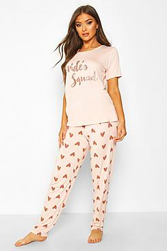 Bride's Squad Heart T and Legging Set