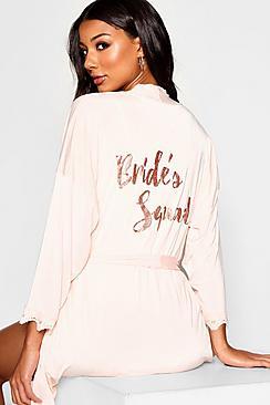 Glitter Brides Squad Robe