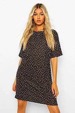 Tall Polka Dot Print T-Shirt Dress