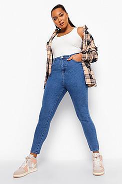 Plus 5 Pocket Stretch Skinny Jeans