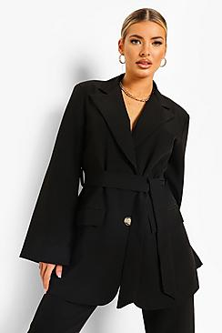 Se  Wrap Front Tailored Blazer ved Boohoo.com