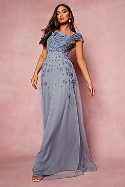 Se  Bridesmaid Hand Embellished Bow Detail Maxi ved Boohoo.com