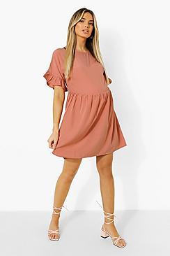Maternity Frill Sleeve Smock Dress
