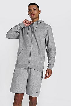 Se  Tall Recycled Regular Fit Zip Through Hoodie ved Boohoo.com