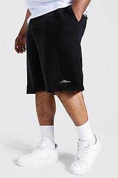 Plus Recycled MAN Script Loose Jersey Short