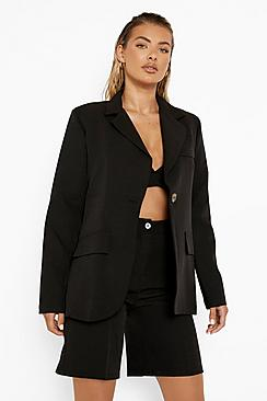 Fitted Mock Horn Button Blazer