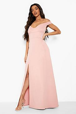 Sweetheart Off Shoulder Bodycon Maxi Dress
