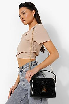 Boxy Top Handle Grab Bag
