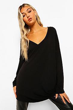 Se  Tall Basic Oversized Long Sleeve Top ved Boohoo.com