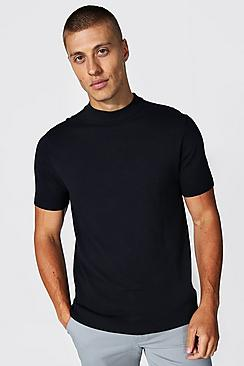 Recycled Short Sleeve Turtle Neck Jumper