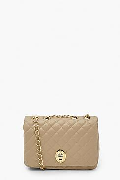 Quilted Flap Chain Cross Body Bag